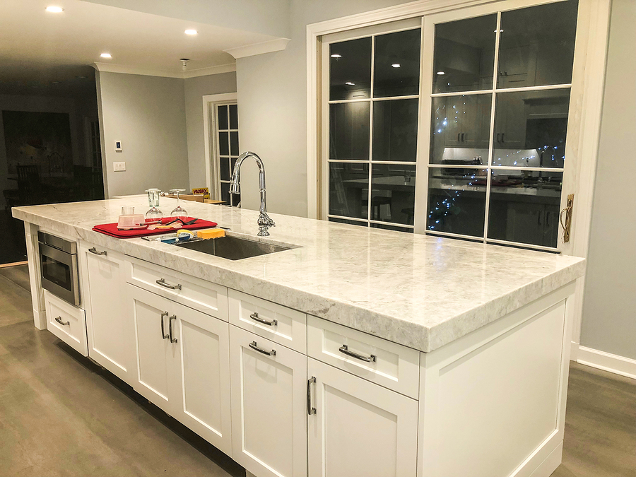 custom cabinets for big kitchen